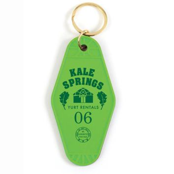 Kale Springs Yurt Rentals 06 Keychain in Green