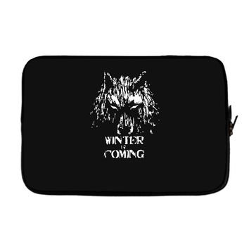 game of thrones direwolf winter is coming Laptop sleeve