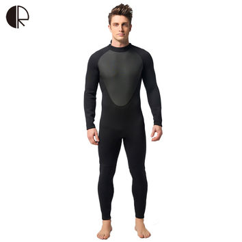 SO573 3mm Neoprene Scuba Dive Wetsuit For Men Spearfishing Wet Suit Surf Diving Equipment Split Suits Spear Fishing S-XXL
