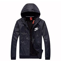 NIKE Hooded Zipper Cardigan Sweatshirt Jacket Coat Windbreaker Sportswear I