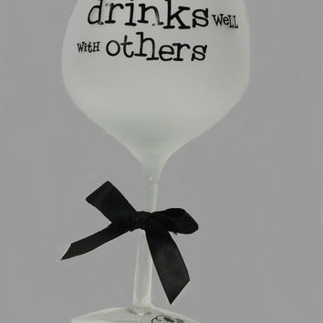 20 oz. Frosted Wine Glasses - Drinks well