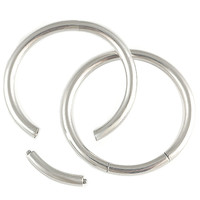 Seamless Hoop Segment Ring [Gauge: 16G - 1.2mm / Diameter: 12mm] 316L Surgical Steel // Set of 2