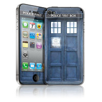 HARD Case & Skin for Apple iPhone 4 / 4S - Tardis Doctor Who Police Call Box