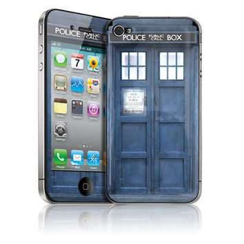 HARD Case & Skin for Apple iPhone 4 / 4S  Tardis by stickitskins