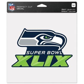 ONETOW NFL Seattle Seahawks Wincraft Super Bowl XLIX 8' x 8' Perfect Cut Decal