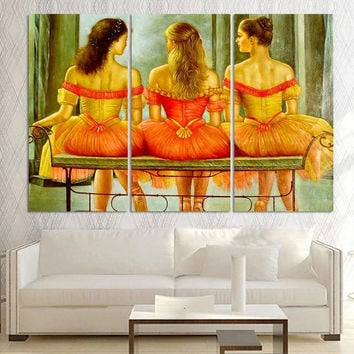 Ballet Dancer Canvas Oil Painting for Living Room Picture Modern Abstract Oil Painting printed On Canvas Wall Art No Frame