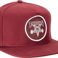 Thrasher Skate Goat Hat Snap Back Maroon