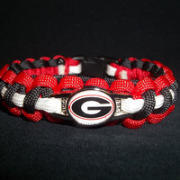 Georgia Bulldogs Paracord Bracelet