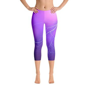 A Gentle Streak Of Lightning Capri Leggings