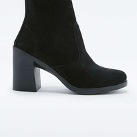 Patti Black Suede Heel Ankle Boots - Urban Outfitters