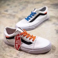 Off White X Vans Old Skool Canvas Board Shoes