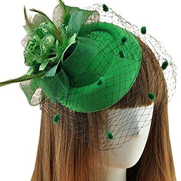 Fascinators Hair Clip Headband Pillbox Hat Bowler Feather Flower Veil Wedding Party Hat