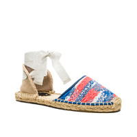 Soludos Malhia Kent Static Espadrille in Blue Neon Orange