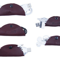 Asst/5 Leather Cord Tacos, Merlot, Other Lifestyle Accessories