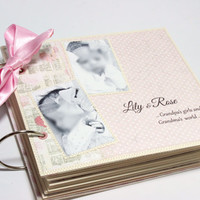 Baby Brag Book, Grandparents Gift Brag Book, Baby photo Memory Book, Fully finished with Photos