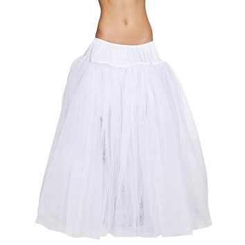Sexy Sheer White Flowing Halloween Petticoat