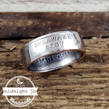 Delaware State Quarter Coin Ring