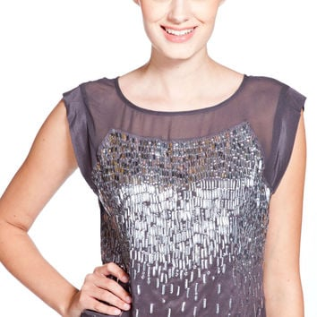 Rebecca Taylor Ombre Beaded Top