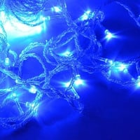 100M 600 LED Blue Lights Decorative Wedding Fairy Christmas Tree Party Twinkle String Lighting EU (Color: Blue) = 1838561028