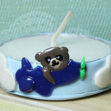 Teddy Bear & Airplane Baby Shower Tea light Favor/Baby announcement