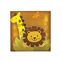 "Babies""R""Us Safari Light Up Giraffe Lion Wall Decor"
