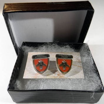 Perfect Attendance and Punctuality Pins, Replicas from Wes Anderson's Rushmore