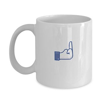 Social Media Funny Finger Drinking Coffee Mug