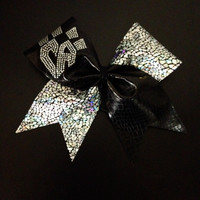 Shattered Glass black/silver bow