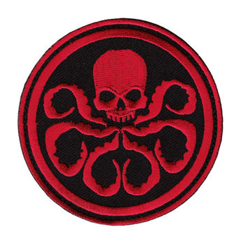 "RED Captain America Hydra Logo 3"" Embroidered Patch"