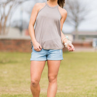 Casual Flow Tank, Taupe