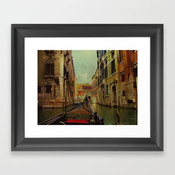 Venice, Italy Canal Gondola View Framed Art Print by Theresa Campbell D'August Art