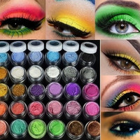 Colorful 30 Colors Eye Shadow Powder Makeup Mineral Eyeshadow + brush Pigment [8833486156]