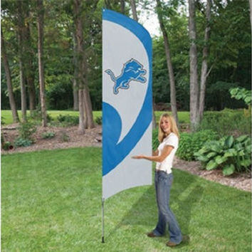 NFL Party Animal Detroit Lions Applique & Embroidered Tall Team Flag