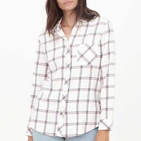 Thread and Supply Ashbey Plaid Button Up Shirt for Women TSTPX7660