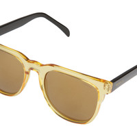Komono - Riviera Cider Black Sunglasses, Gold Lenses