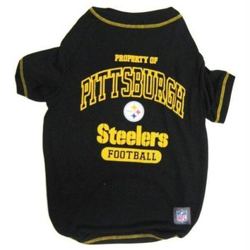 auguau Pittsburgh Steelers Dog T-Shirt
