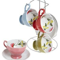 Floral to Ceiling Tea Set | Mod Retro Vintage Kitchen | ModCloth.com