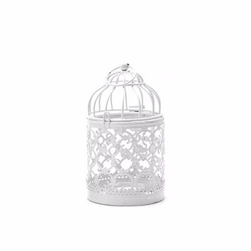 Candlesticks Decorative Hollow Holder Tealight Candlestick Hanging Lantern Bird Cage Vintage Candlesticks Home Decoration