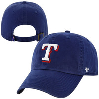 Texas Rangers '47 Brand Basic Logo Clean Up Adjustable Hat – Royal Blue