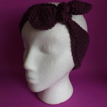 Knitted Headband - Knitted Ear Warmer - Knitted Knot Headband