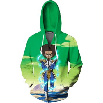 Urban Huey Super Saiyan Zip Up Hoodie