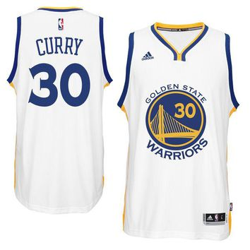 Youth Boy's Golden State Warriors Stephen Curry White Replica Jersey