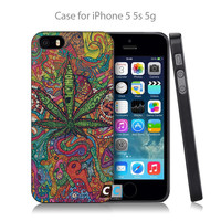 Abstractionism Art high weed tumblr Hard Black Case Cover Shell Coque for iPhone 4 4s 4g 5 5s 5g 5c 6 6g 6 Plus-0402