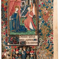BOOK OF HOURS, use of Rouen, in Latin and French, ILLUMINATED MANUSCRIPT ON VELLUM