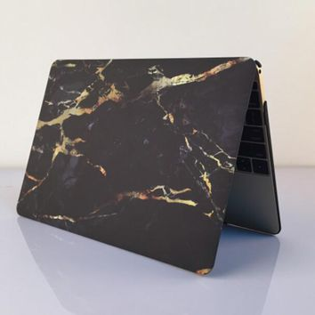 black marble macbook air 11 13 retina 13 15 pro 15 12 mac 12 case cover novo rubberized hard shell gift  number 1