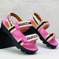 GUCCI Girls Boys Children Baby Toddler Kids Child Fashion Casual Sandals Flats Shoes