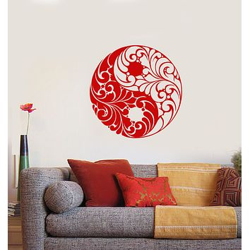 Vinyl Wall Decal Yin Yang Symbol Buddhism Religion Ornament Stickers (3917ig)