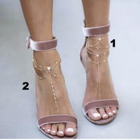 dainty chain anklets
