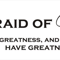 Vinyl Wall Decal - Be Not Afraid of Greatness Shakespeare quote (Stacked)
