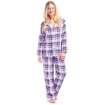 Women's EcoFlannel™ Full Length Plaid Pajama Set with Gift Box